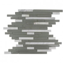 Splashback Tile 12 in. x 12 in. Marble And Glass Mosaic Floor and Wall Tile-DISCONTINUED