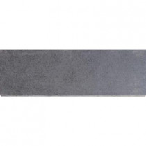MS International Beton Graphite 4 in. x 12 in. Glazed Porcelain Bullnose Wall Tile