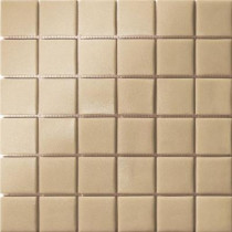 Elementz 12.5 in. x 12.5 in. Capri Beige Grip Glass Tile-DISCONTINUED