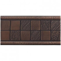 Weybridge 3 in. x 6 in. Cast Metal Mosaic Deco Dark Oil Rubbed Bronze Tile (10 pieces / case) - Discontinued
