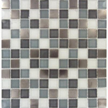 MS International Diamond Cove 12 in. x 12 in. x 8 mm Glass Metal Mesh-Mounted Mosaic Tile