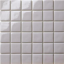 Elementz 12.5 in. x 12.5 in. Capri Grigio Light Glossy Glass tile-DISCONTINUED