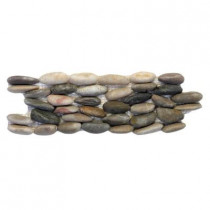 Solistone Standing Pebbles Corolla 4 in. x 12 in. Natural Stone Pebble Mosaic Rock Wall Tile (5 sq. ft. / case)