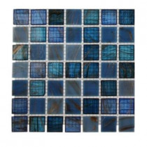 Splashback Tile Bahama Blue Glass Tile Sample