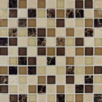 MS International Alicante Blend 12 in. x 12 in. x 8 mm Glass Stone Mesh-Mounted Mosaic Tile