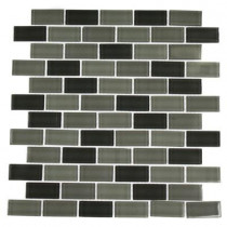 Splashback Tile Shade 12 in. x 12 in. x 8 mm Glass Mosaic Floor and Wall Tile