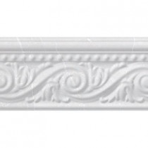 PORCELANOSA Listel Pisa 4 in. x 8 in. Blanco Ceramic Accent Tile-DISCONTINUED