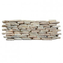 Solistone Standing Pebbles Tesserat 4 in. x 12 in. x 19.05mm Natural Stone Pebble Mesh-Mounted Mosaic Wall Tile (5 sq. ft. / case)