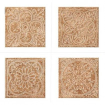 MARAZZI Montagna Soratta 6 in. x 6 in. Porcelain Embossed Deco (Receive 1 of 4 Random Decos - Sold as Singles)-DISCONTINUED