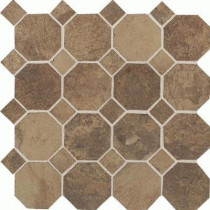 Daltile Aspen Lodge Cotto Mist 12 in. x 12 in. x 6 mm Porcelain Octagon Mosaic Floor and Wall Tile (7.74 sq. ft. / case)