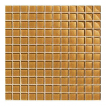 Daltile Maracas Evening Sun 12 in. x 12 in. 8mm Glass Mesh-Mounted Mosaic Wall Tile (10 sq. ft. / case)-DISCONTINUED