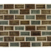 MS International Fossil Canyon 12 in. x 12 in. x 8 mm Glass Mesh-Mounted Mosaic Tile