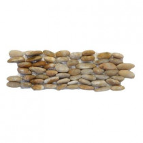Solistone Standing Pebbles Crown 4 in. x 12 in. Natural Stone Pebble Wall Tile (5 sq. ft./case)