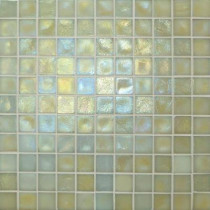 Studio E Edgewater Dune 1 in. x 1 in. 11 3/4 in. x 11 3/4 in. Glass Floor & Wall Mosaic Tile-DISCONTINUED
