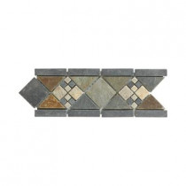 Jeffrey Court Yacht Harbor 4 in. x 12 in. x 8 mm Slate Strip Wall Accent