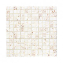 Jeffrey Court Pearl Glaze 12 in. x 12 in. x 4mm Glass Mosaic Wall Tile