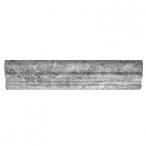 Jeffrey Court Tundra Grey Crown 2.625 in. x 12 in. Marble Tile
