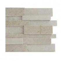 Splashback Tile Dimension 3D Brick Crema Marfil Pattern Tile Sample