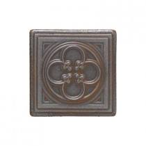 Daltile Castle Metals 2 in. x 2 in. Wrought Iron Metal Clover Insert Accent Wall Tile