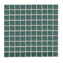 Daltile Sonterra Glass Emerald Iridescent 12 in.x12 in.x6mm Glass Sheet Mounted Mosaic Wall Tile(10 sq.ft./case)-DISCONTINUED