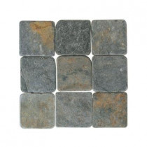 Daltile Travertine Indian Multicolor 6 in. x 6 in. Tumbled Stone Floor and Wall Tile (6 sq. ft. / case)