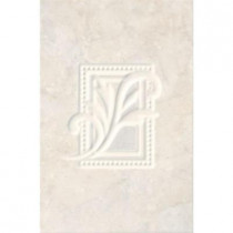 ELIANE Illusione Ice 8 in. x 12 in. Ceramic Insert Wall Tile