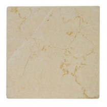 Jeffrey Court Light Travertine Tumbled 4 in. x 4 in. x 8 mm Floor/Wall Tile (1 pk /9 pcs-1 sq. ft.)