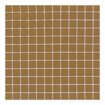 Daltile Maracas Butternut 12 in. x 12 in. 8mm Frosted Glass Mesh-Mounted Mosaic Wall Tile (10 sq. ft. / case)-DISCONTINUED