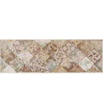 Daltile Portenza Universal 4 in. x 14 in. Glazed Porcelain Decorative Border Floor and Wall Tile