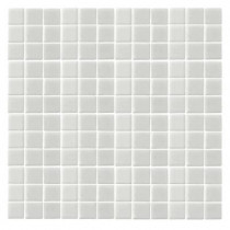 EPOCH Oceanz O-White-1720 Mosaic Recycled Glass Anti Slip 12 in. x 12 in. Mesh Mounted Floor & Wall Tile (5 sq. ft.)