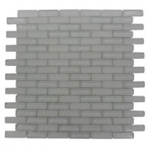 Splashback Tile Contempo Bright White 12 in. x 12 in. x 8 mm Glass Mosaic Floor and Wall Tile
