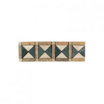 Daltile Travertine Termessos 4 in. x 13 in. Tumbled Slate Border Accent Wall Tile-DISCONTINUED