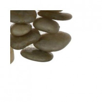 Splashback Tile 3D Pebble Rock Beige Stacked Marble Mosaic Floor and Wall Tile - 6 in. x 6 in. Tile Sample-DISCONTINUED