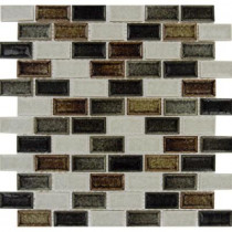 MS International Sandy Beaches Blend 12 in. x 12 in. x 8 mm Glass Mesh-Mounted Mosaic Tile