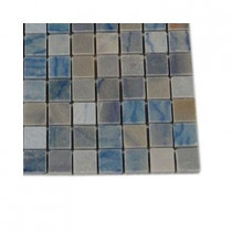 Splashback Tile Blue Macauba Marble Floor and Wall Tile - 6 in. x 6 in. Tile Sample-DISCONTINUED