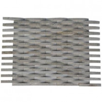 Splashback Tile 3D Reflex Crema Marfil 12 in. x 12 in. x 8 mm Stone Floor and Wall Tile