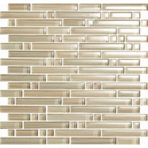 EPOCH Brushstrokes Chiarro-1502-S Strips Mosaic Glass Mesh Mounted - 2 in. x 12 in. Tile Sample