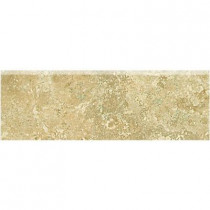 Daltile Fantesa Cameo 3 in. x 12 in. Glazed Porcelain Bullnose Floor and Wall Tile