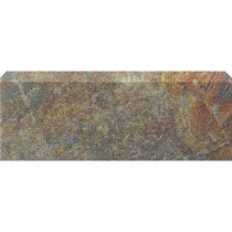 U.S. Ceramic Tile Stratford Bamboo 3 in. x 12 in. Ceramic Bullnose Floor & Wall Tile-DISCONTINUED