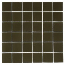Splashback Tile Contempo Khaki Frosted 12 in. x 12 in. x 8 mm Glass Floor and Wall Tile