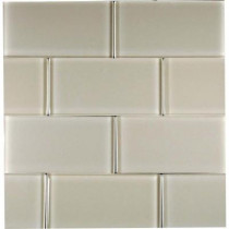 Epoch Architectural Surfaces Desertz Kalahari-1423 Glass Subway Tile - 3 in. x 6 in. Tile Sample-DISCONTINUED