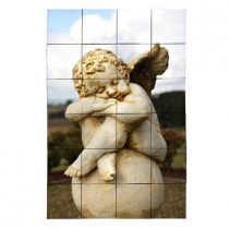 Tile My Style Angel2 24 in. x 36 in. Tumbled Marble Tiles (6 sq. ft. /case)