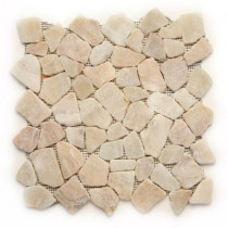 Solistone Indonesian Alor Crystal 12 in. x 12 in. x 6.35mm Natural Stone Pebble Mesh-Mounted Mosaic Tile (10 sq. ft. / case)