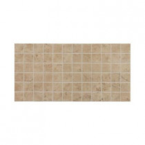 Daltile Fidenza Cafe 12 in. x 24 in. x 8 mm Porcelain Mesh-Mounted Mosaic Floor and Wall Tile (24 sq. ft. / case)