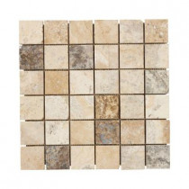 Jeffrey Court Toscano 12 in. x 12 in. x 8 mm Travertine Mosaic Floor/Wall Tile