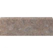 U.S. Ceramic Tile Craterlake Petra 3 in. x 18 in. Glazed Ceramic Single Bullnose Tile-DISCONTINUED
