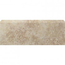 U.S. Ceramic Tile Tuscany Ivory 3 in. x 10 in. Glazed Ceramic Single Bullnose Wall Tile-DISCONTINUED