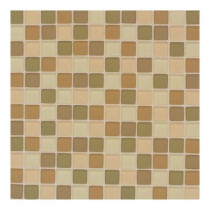 Daltile Maracas Desert Mirage Blend 12 in. x 12 in. x 8 mm Frosted Glass Mesh Mounted Mosaic Wall Tile-DISCONTINUED
