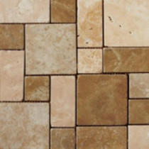 Emser Coliseum 13 in. x 13 in. Multicolor Porcelain Mosaic Tile-DISCONTINUED