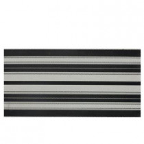 Daltile Identity Gray/Black Fabric 12 in. x 24 in. Porcelain Decorative Accent Floor and Wall Tile-DISCONTINUED